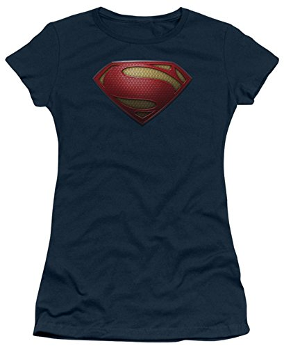Juniors: Man of Steel - MoS Shield Juniors (Slim) T-Shirt Size S