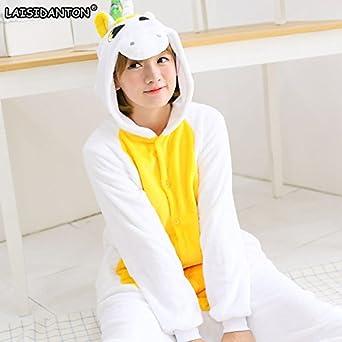 8a22e4e11dfc Amazon.com  MH-RITA Unisex Adult Winter Unicorn Pajamas 2017 Animal ...