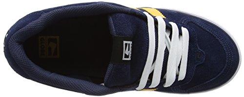 Globe GlobeEncore-2, Zapatillas de Skateboard Hombre Azul (Navy / Yellow)