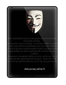 Awesome Defender Tpu Hard Case Cover For Ipad Air- V For Vendetta