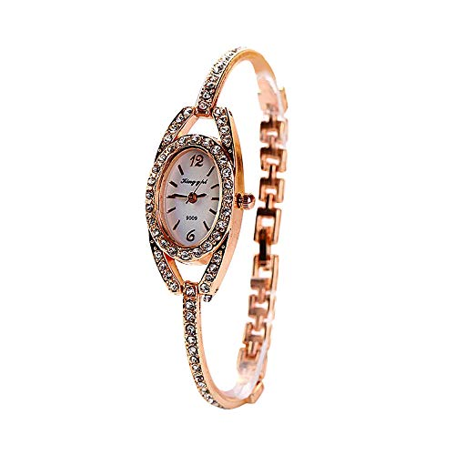 Mosaic Quality Show Silver (Women's Fashion Unique Luxury Diamond Round Dial Leaf Shape Bracelet Ladies Quartz Wrist Watches)