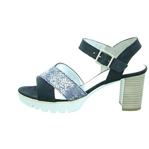Gabor 65.821.16 - Sandalias de vestir de Piel para mujer Blau Kombi