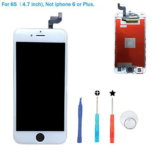 Price comparison product image Replacement LCD Screen Digitizer with tools and 3D Touch for iphone 6s screen(white-0)