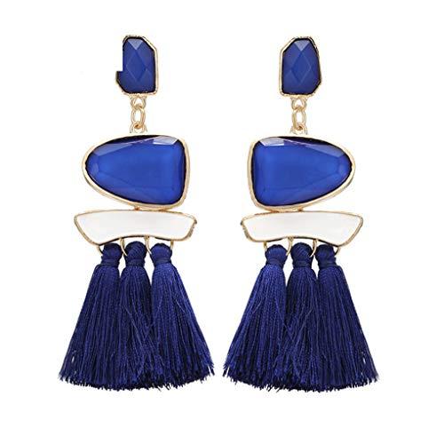 Long Multicolor Tassel Earrings For Women Vintage Ethnic Handmade Ball Pendant Dangle Earring Patry Ejcs73430