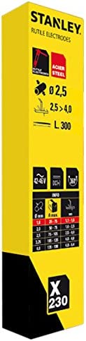 230 piezas de electrodos de varilla E6013 D 2,5X350 PCS 230 en caja de cart/ón