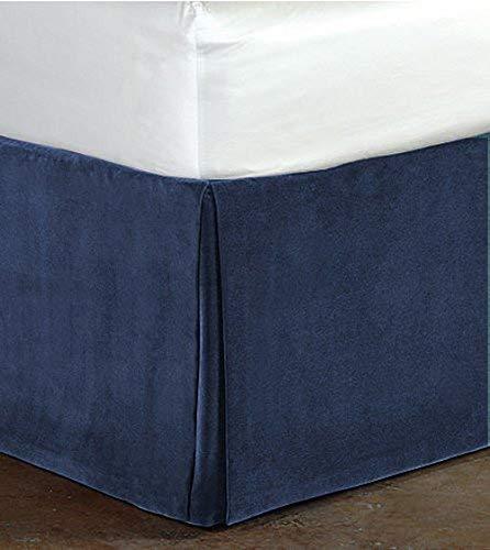 - PS LINEN Classy Royal 100% Cotton Velvet Bedskirt/Valance 18