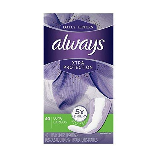 Always Dailies Xtra Protection Long Liners 40 ea (Pack of 10) by Always