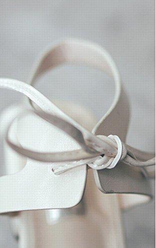 Chaussures Attaché Ruban Chaussures NSX Sangle Roman Abricot Fées Plates Sauvage de Xwzqwp