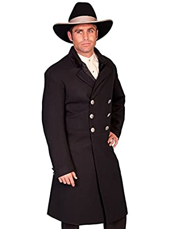 Men's Steampunk Costume Essentials Double-Breasted Frock Coat  AT vintagedancer.com