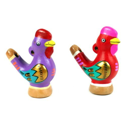 One Ocarina Clay Chirping Whistle Rooster Flute Sanyork Hand Made~Peru Packaged New 004392 ()