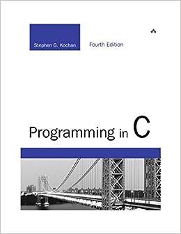 Programming in C (4th Edition) (Developer's Library)