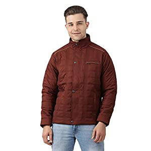 Monte Carlo Maroon Polo Collar Men's Polyester Jacket
