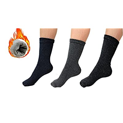 New QSHOP 3 Pairs Men's Original Supreme Thermal Socks Heavy Duty Heat Winter Insulated Socks US 9-13 free shipping