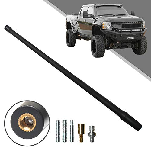 Beneges 13 Inch Flexible Rubber Replacement Antenna Compatible with 1985-2019 Chevy 1500 Silverado & GMC Sierra/Denali, Optimized FM/AM Reception.