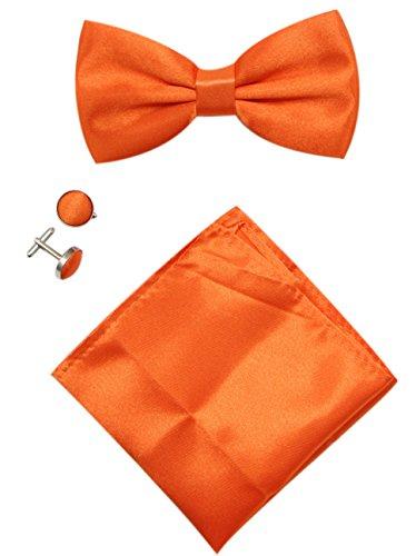 mens-solid-stain-pre-tied-tuxedo-bow-tie-cufflinks-pocket-square-set-by-jaifei-orange