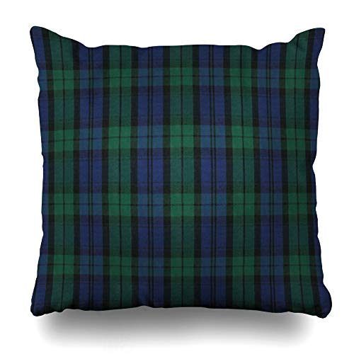 LALILO Throw Pillow Covers, Black Watch Plaid Shirting Fabric Double-Sided Pattern Sofa Cushion Cover Couch Decoration Home Gift Bed Pillowcase 18x18 ()