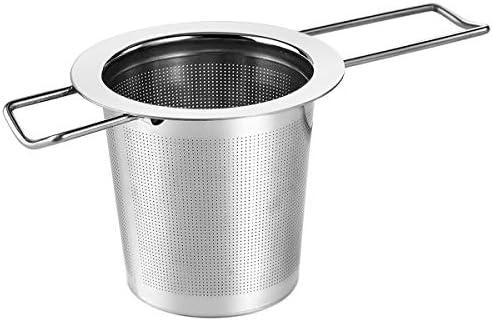 Infusor de Té Filtro de Te en Acero Inoxidable Colador de Té con Mango de Larga Duración Filtros para Té Taza y los Potes