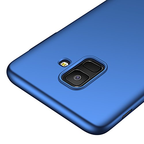 Galaxy A6 Case,kqimi [Ultra-Thin] Premium Material Slim Full Protection Cover for Samsung Galaxy A6 2018 (Blue)