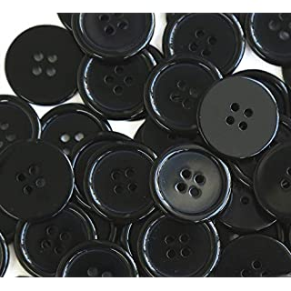 GANSSIA 1 Inch Buttons 25mm Sewing Flatback Button Dark Blue Colored Pack of 50 Pcs