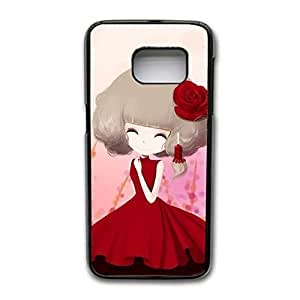 Samsung Galaxy S7 Edge Phone Case Ultimate Protection HD Background Skin Cover Case Graceful Vivid Cute Beautiful Girl Designback Casefit Samsung Galaxy S7 Edge Mobile Shell