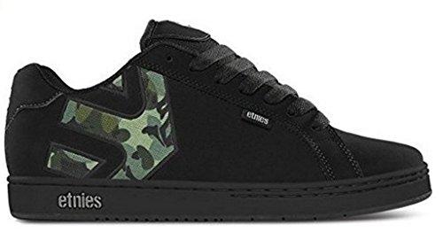 Etnies Fader Negro Camouflage Hombres Suede NuevoSkate Zapatos Formadores Botas
