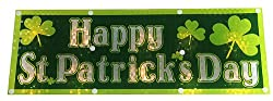 16 Lighted Holographic Happy St. Patrick's Day Window Decoration