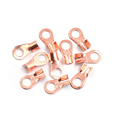Sourcingmap 10pcs 5A Copper Ring Terminals Lug Battery Cable Connector:
