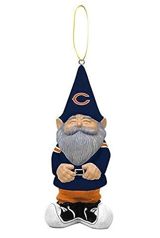 NFL Chicago Bears Garden Gnome Christmas Ornament, Small, Multicolored - Chicago Bears Christmas Ornament