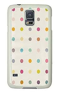 Samsung S5 case unique Simple Flat Dots Pattern667 PC White Custom Samsung Galaxy S5 Case Cover