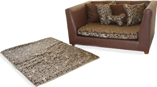 Fantasy Furniture Deluxe Orthopedic Dog Bed Set, Large, Elegant Brown, My Pet Supplies