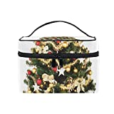 Makeup Bag Christmas Tree December Gifts Girls Travel Cosmetic Bag Womens Toiletry Organizer