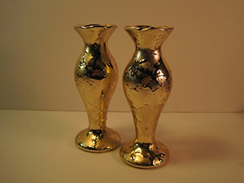 set-of-2-glass-vases-with-metallic-textured-glaze-6-inches