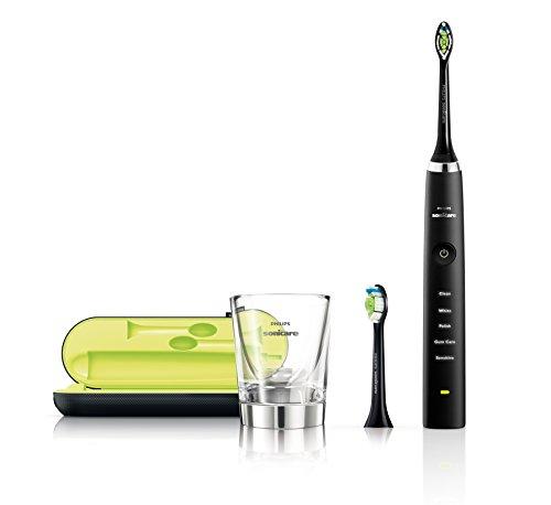 Philips Sonicare HX9352/04 DiamondClean Elektrische Zahnbürste mit Schalltechnologie, Black Edition, schwarz