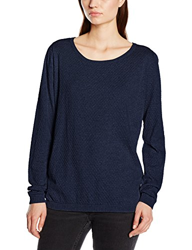 VERO MODA Vmcare Structure Ls O-neck Blouse Noos - Suéter para mujer Blau (Black Iris)