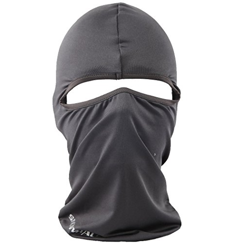 Cycling Sports Face Mask Cool Fashionable Ultra Thin Balaclava (Dark grey)