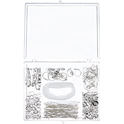Darice Nickel Free Silver Finding Starter Kit In Clear Box