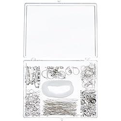Darice Nickel Free Silver Finding Starter Kit In Clear Box