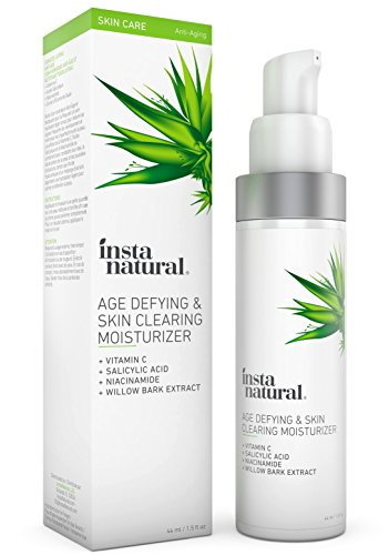 Facial Starter Kit - Vitamin C Skin Clearing Face Moisturizer - Anti Aging Formula with Salicylic Acid - Natural & Organic - Acne, Wrinkles, Fine Lines & Hyperpigmentation Defying Product - InstaNatural - 1.5 oz