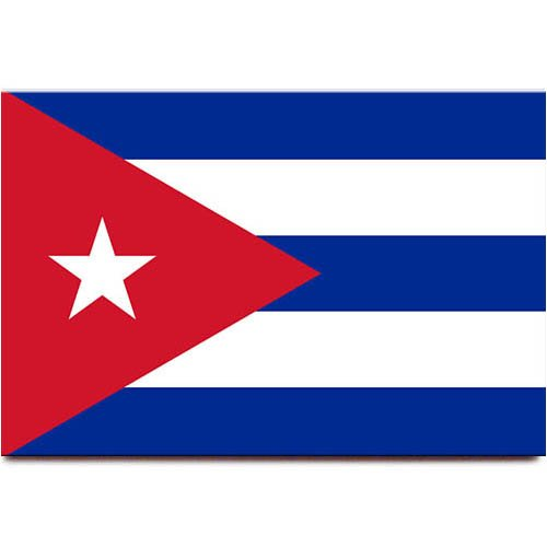Cuba flag fridge magnet Havana travel (Flag Fridge Magnet)