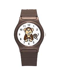 "Kidozooo Boys Girls Cartoon Monkey Wild Animal 1 3/8"" Diameter Plastic Watch"