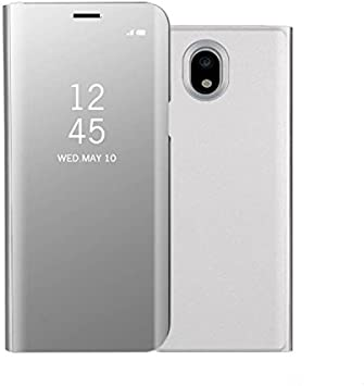 Funda® Espejo Enchapado Flip Funda para Samsung Galaxy J5(2017)/Samsung Galaxy J530 (Plata): Amazon.es: Electrónica