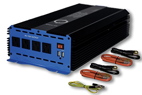 Halo Automotive 3000 Watt Power Inverter 12V DC to 110V AC 4 Outlets and 2 USB Ports