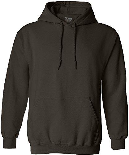Joe's USA Hoodies Soft & Cozy Hooded Sweatshirt,Large-Chocolate Brown