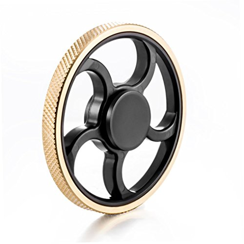 Durable Metal/Plastic Hand Spinner EDC Fidget Toys for Stress Relief and Focus (Wheel-Gd-1, 1)
