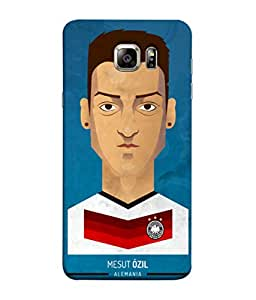ColorKing Football Ozil Germany 01 Blue shell case cover for Samsung S6 Edge