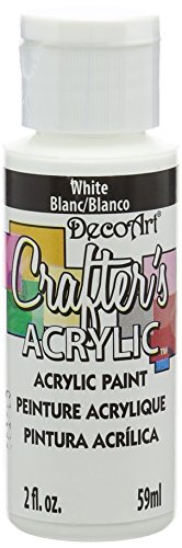 DecoArt Crafter's Acrylic Paint, 2-Ounce, White