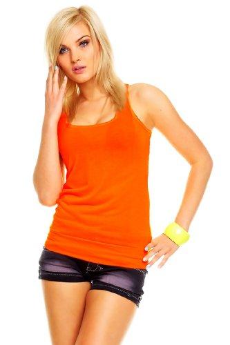 BT Style - Camiseta sin mangas - para mujer Neón-Naranja