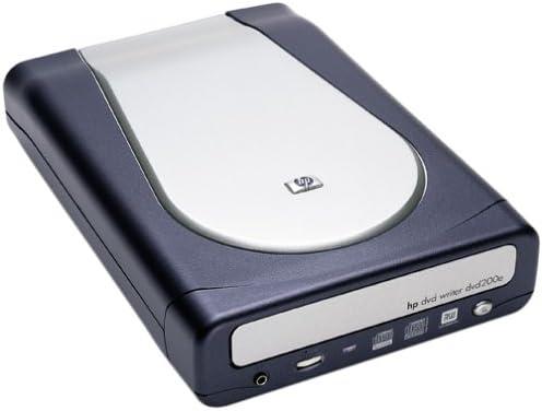 Hewlett Packard DVD200e 2.4x2.4x8 External USB 2.0//FireWire DVD+RW Drive