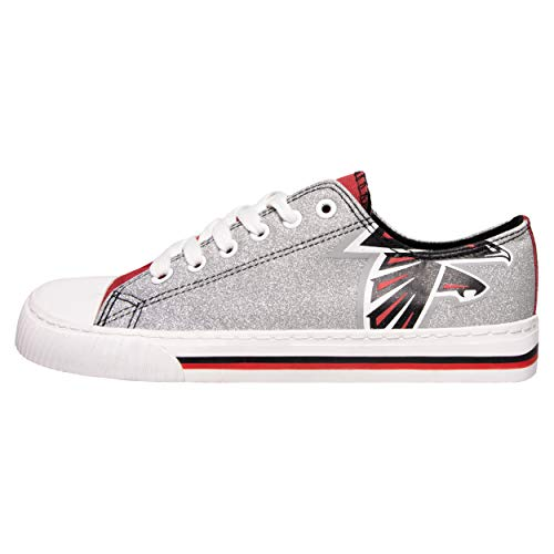 3fba565a1affc5 FOCO NFL Atlanta Falcons Womens Glitter Low Top Canvas Shoesglitter Low Top  Canvas Shoes