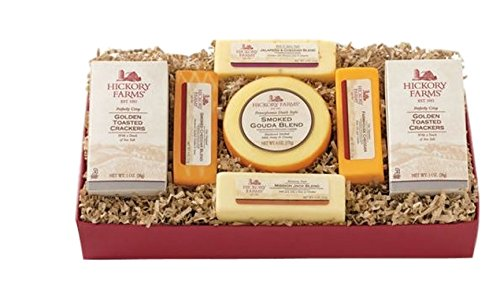 Hickory Farms Cheese Holiday Gift Box Jalapeno Cheddar Gouda Farmhouse Cheese Set by Hickory Farms